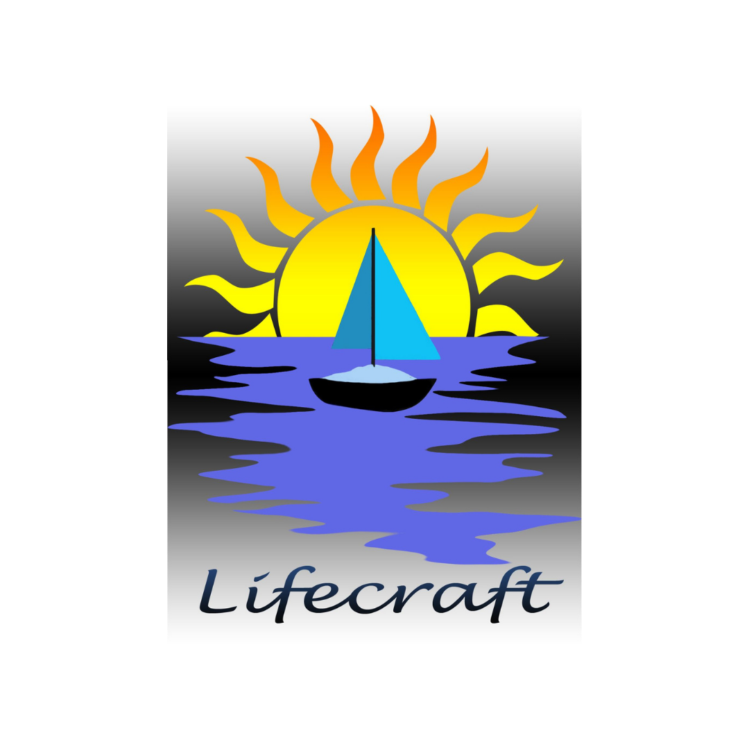 Lifecraft logo showing a sunset and sailing boat